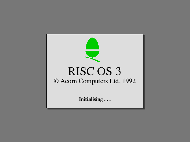 Welcome splash in RISC OS 3.11