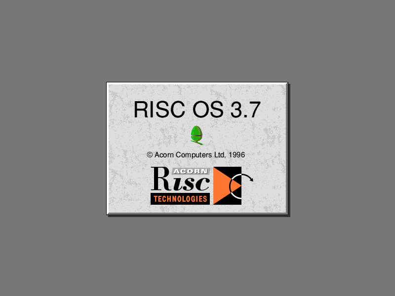 Welcome splash in RISC OS 3.7