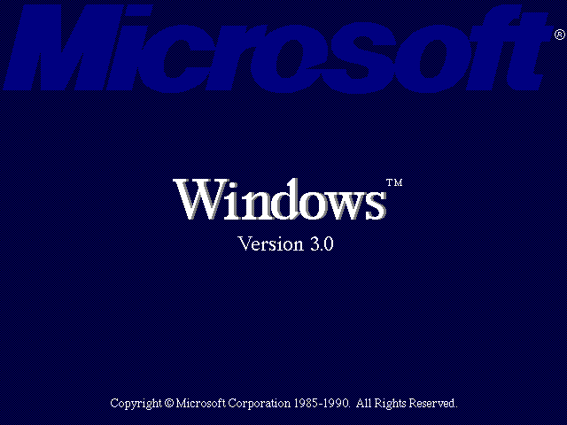 Welcome splash in Windows 3.0