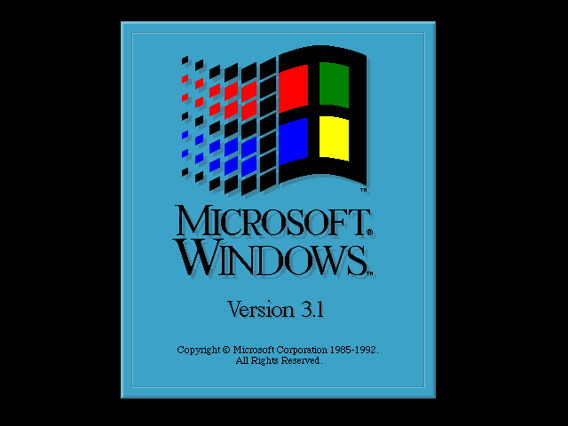 Welcome splash in Windows 3.1