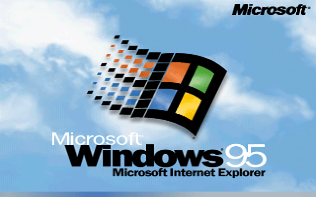Welcome splash in Windows 95B