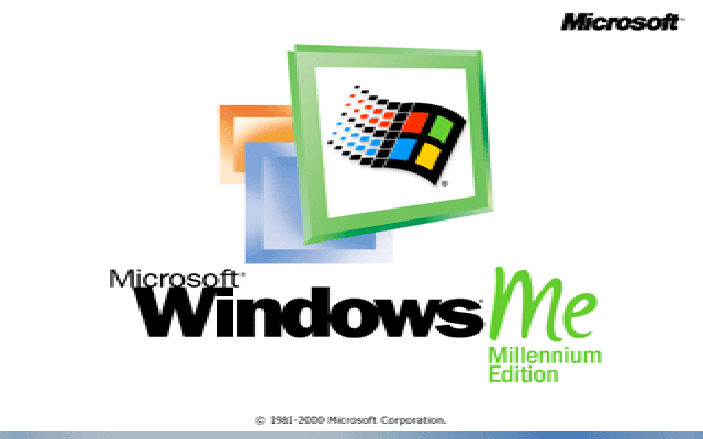 Welcome splash in Windows Me
