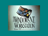 Welcome splash in Windows NT 3.51 Workstation