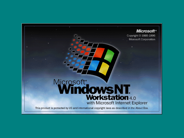 Welcome splash in Windows NT 4.0 Workstation