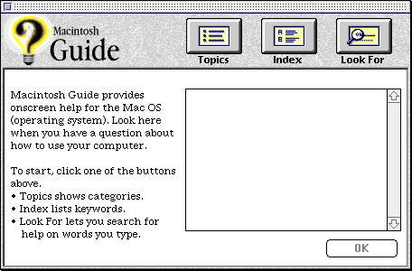 Help in System 7.5.3 (Macintosh Guide)