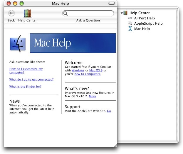 Help in Mac OS X Jaguar (Mac Help)