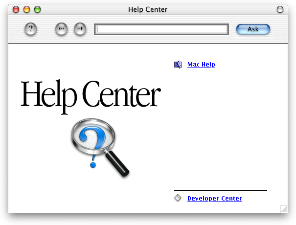 Help in Mac OS X DP 4 (Mac Help)