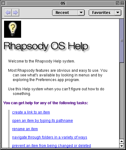 Help in Rhapsody DR2 (HelpViewer)