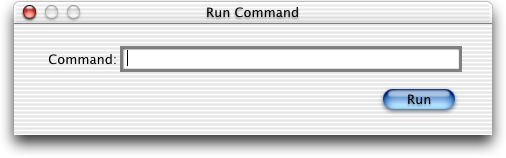 Run in Mac OS 10.0.4 (Run Command)
