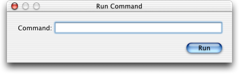 Run in Mac OS 10.1 (Run Command)
