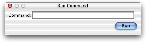 Run in Mac OS X DP 3 (Run Command)