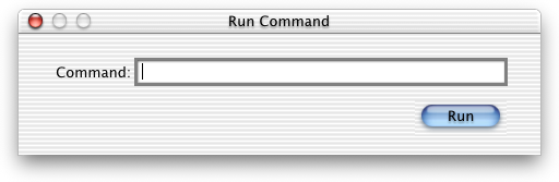 Run in Mac OS X DP 4 (Run Command)