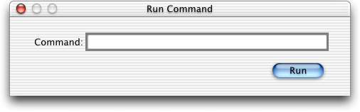 Run in Mac OS X Public Beta (Run Command)