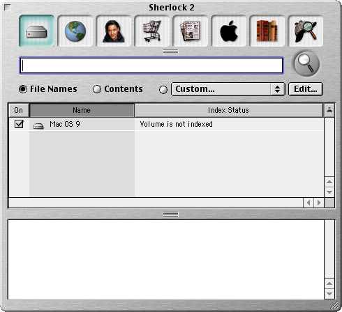 Search in Mac OS 9.0 (Sherlock 2)