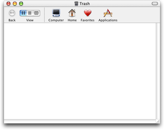 Trash can in Mac OS 10.0.4 (Trash)