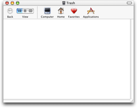 Trash can in Mac OS 10.1 (Trash)