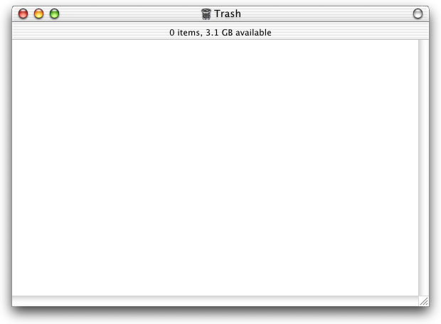 Trash can in Mac OS X DP 3 (Trash)