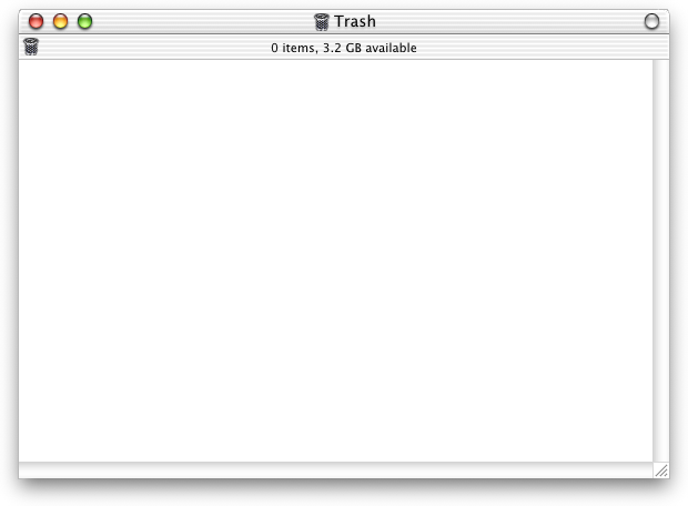 Trash can in Mac OS X DP 4 (Trash)