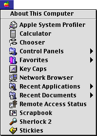 Application manager in Mac OS 9.0