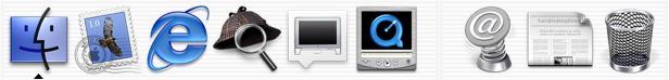 Application manager in Mac OS 10.0.4 (Dock)