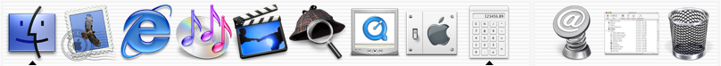 Application manager in Mac OS 10.1 (Dock)