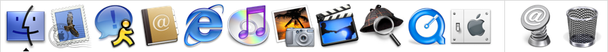 Application manager in Mac OS X Jaguar (Dock)