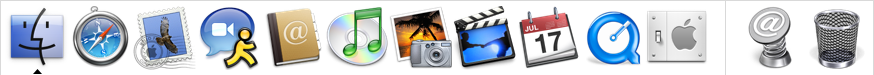 Application manager in Mac OS X Panther (Dock)
