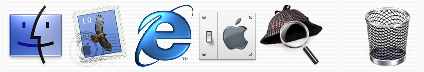 Application manager in Mac OS X DP 4 (Dock)