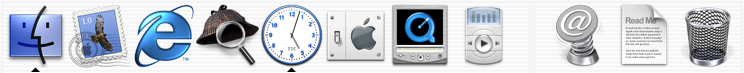 Application manager in Mac OS X Public Beta (Dock)
