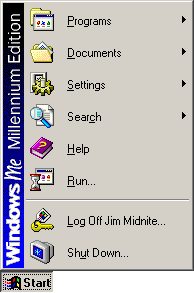 Application manager in Windows Me