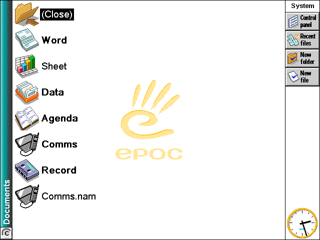 File manager in EPOC R5/Psion Series 7