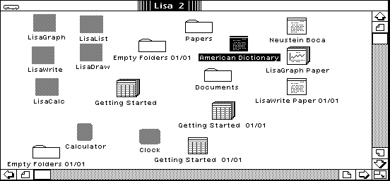 File manager in Lisa OS 3.1