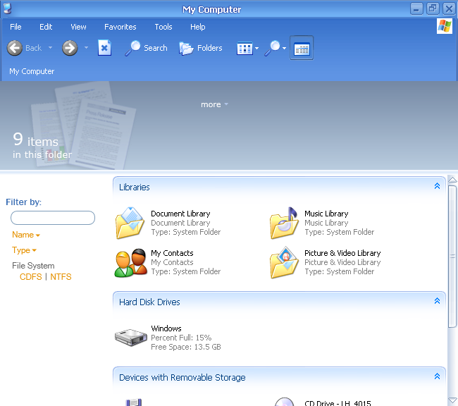 File manager in Longhorn 4015