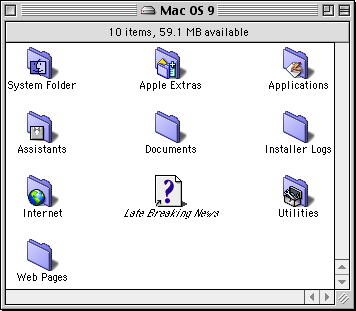 File manager in Mac OS 9.0 (Finder)
