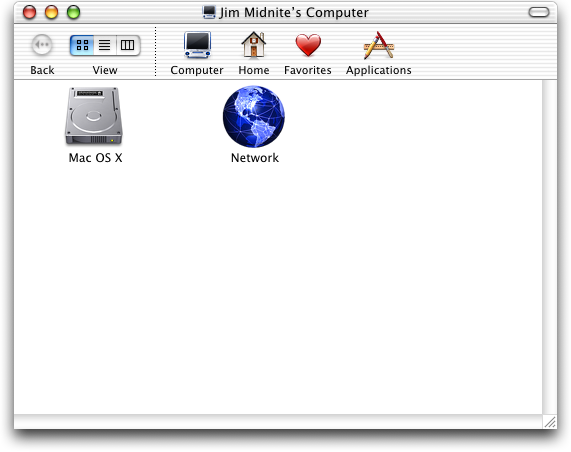 File manager in Mac OS 10.1 (Finder)
