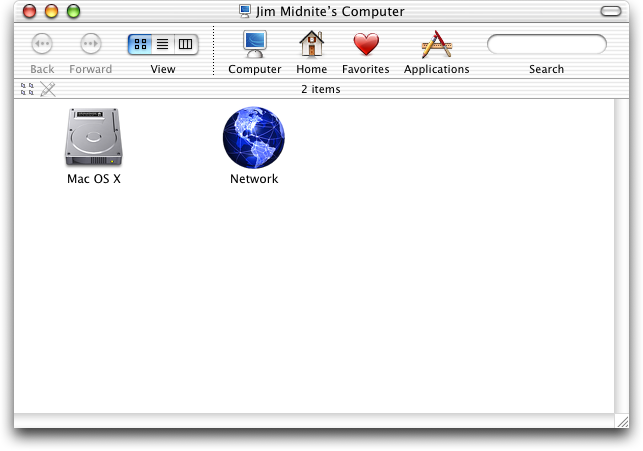 File manager in Mac OS X Jaguar (Finder)