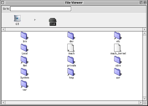 File manager in Mac OS X DP 2
