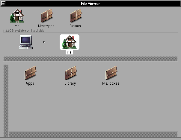 File manager in OPENSTEP 4.2 (File Viewer)