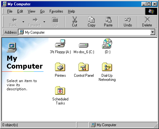 File manager in Windows 98