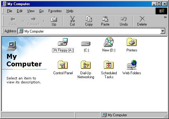 File manager in Windows 98 SE