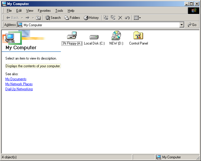File manager in Windows Me