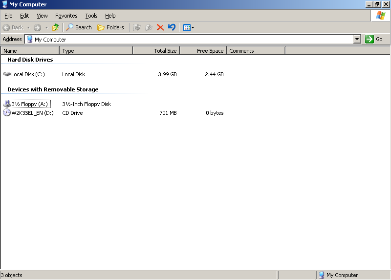 File manager in Windows Server 2003 Web