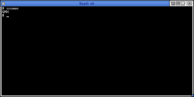 Command prompt in QNX 6.2.1 NC (Terminal)