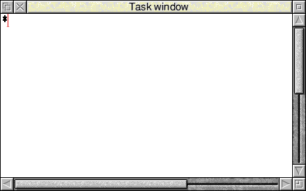 Command prompt in RISC OS 3.7 (Task window)