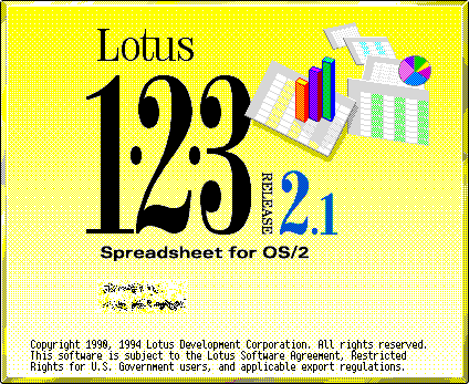 Splash in Lotus 1-2-3 for OS/2 Release 2.1