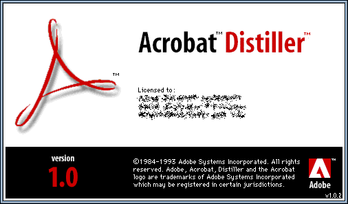 GUIdebook > Splashes > Acrobat Distiller