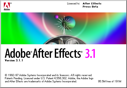 Splash in Adobe After Effects 3.1