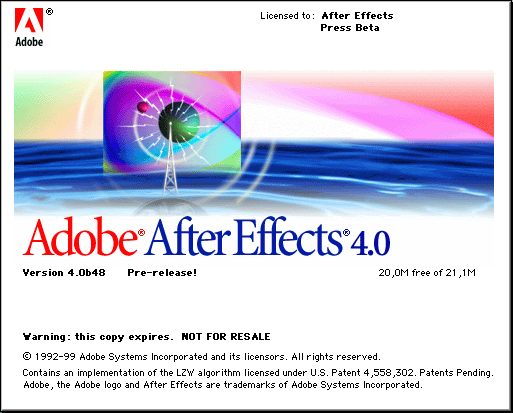 Splash in Adobe After Effects 4.0