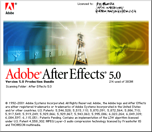 Splash in Adobe After Effects 5.0