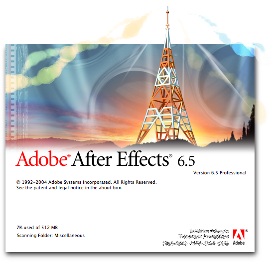 Splash in Adobe After Effects 6.5 Professional